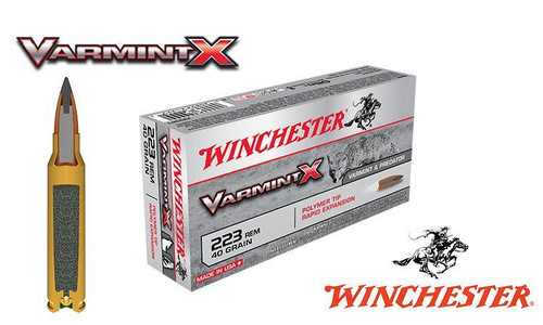 Winchester .223 Rem Varmint X, Polymer Tipped 40 grain Box of 20 #X223P1