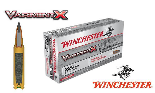 Winchester .223 Rem Varmint X, Polymer Tipped 55 grain Box of 20 #X223P