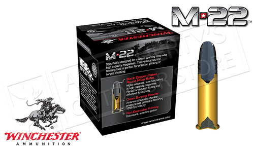 Winchester .22LR M-22 HV, 40 Grain FMJ, Box of 400 #S22LRT
