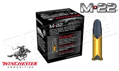 Winchester .22LR M-22 HV, 40 Grain FMJ, Box of 400 #S22LRT