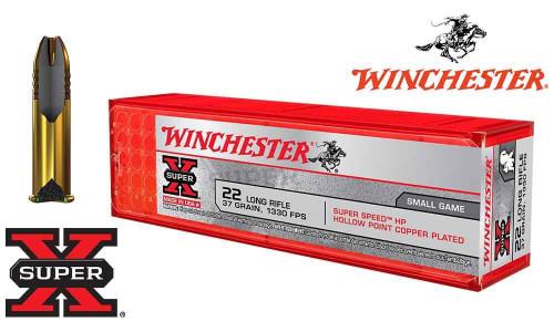 Winchester .22LR Super X, 37 Grain Hollow Point, 1330 FPS, 100 Round Box #X22LRHSS1