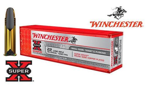 Winchester .22LR Super X, 40 Grain FMJ, 1300 FPS, 100 Round Box #X22LRSS1