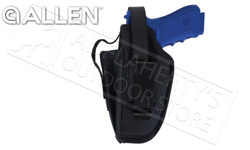 """Allen Ambidextrous Hip Holster with Mag Pouch, 4.5"""" - 5"""" Barrel Large Frame Semi-Auto #44503"""