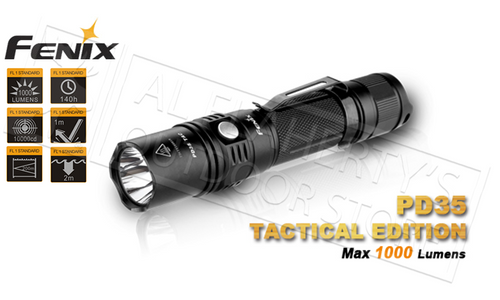 FENIX PD-SERIES PD35 TACTICAL EDITION FLASHLIGHT, 1000 LUMENS