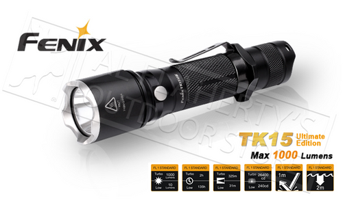 FENIX TK-SERIES TK15 ULTIMATE EDITION FLASHLIGHT, 1000 LUMENS