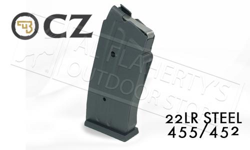 CZ 455 OR 452 MAGAZINE, .22LR 10-ROUND STEEL