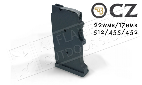 CZ 455 OR 512 MAGAZINE, .22WM OR .17HMR, 10-ROUND POLYMER