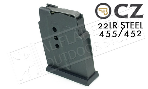 CZ 455 OR 452 MAGAZINE, .22LR 5-ROUND STEEL