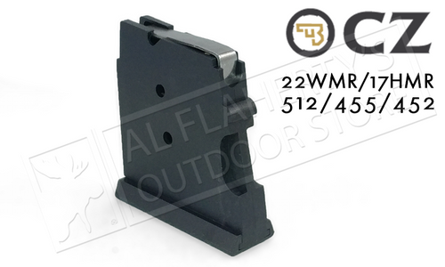 CZ 455 OR 512 MAGAZINE, .22WM OR .17HMR 5-ROUND POLYMER