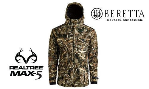 Beretta Waterfowler Jacket in MAX5 Camo, M-XXL #GU441022950858