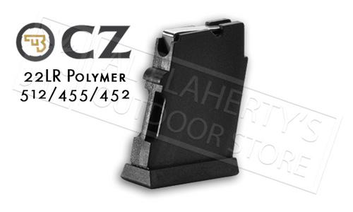 CZ 455 OR 512 MAGAZINE, .22LR 5-ROUND POLYMER