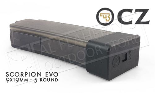 CZ SCORPION EVO MAGAZINE, 9MM 5-ROUND