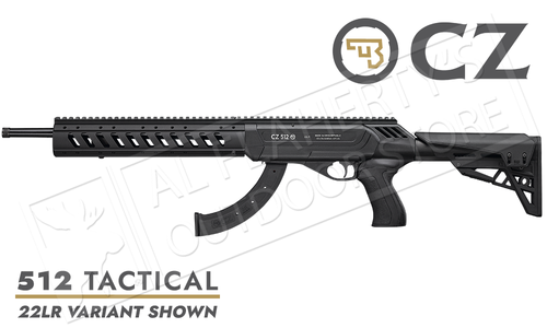 CZ 512 Tactical Semi-Automatic Rimfire Rifle 22LR or 22WMR