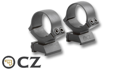 "CZ 452/453/455/512 STEEL 1"" SCOPE MOUNTS, INTEGRATED BASE & RINGS"