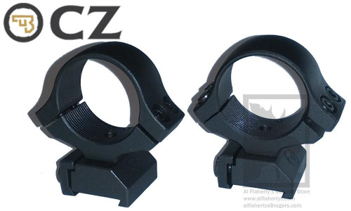 "CZ SCOPE RING MOUNT FOR CZ 527, 1"" MEDIUM HEIGHT"