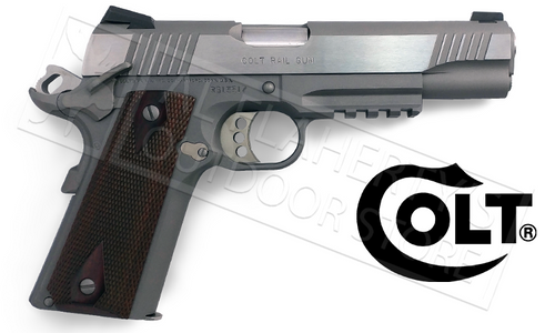COLT RAIL GUN 1911, .45ACP GOVERNMENT FRAME