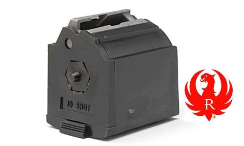 RUGER 10/22 BLACK PLASTIC MAGAZINE, 10-SHOT .22LR