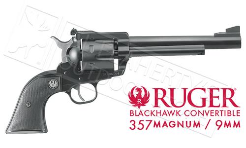 RUGER MODEL BLACKHAWK CONVERTIBLE SINGLE-ACTION REVOLVER, 9MM & .357 MAGNUM