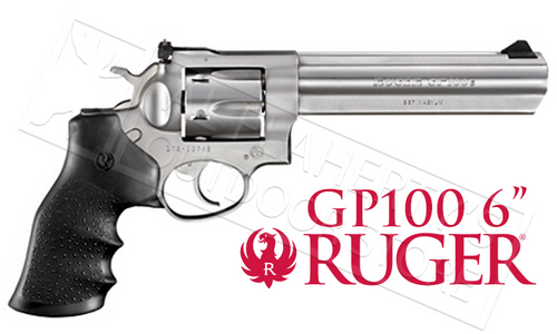 "Ruger GP100 Revolver, Stainless Steel .357 Magnum 6"" Barrel #1707"