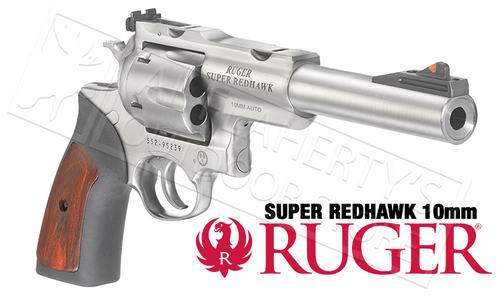 "RUGER SUPER REDHAWK REVOLVER 10MM WITH 6.5"" BARREL"