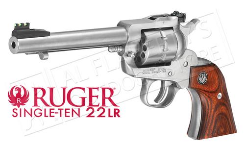 """RUGER SINGLE-TEN REVOLVER, STAINLESS STEEL .22LR 5.5"""" BARREL"""