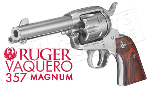 "RUGER VAQUERO STAINLESS SINGLE-ACTION REVOLVER, 4-5/8"" BARREL .357 MAGNUM"