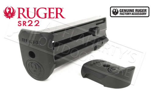 RUGER SR22 PISTOL MAGAZINE, 22LR 10-ROUND WITH EXTENSION PAD
