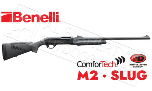 Benelli M2 Shotgun with Rifled Barrel with Sights & ComforTech Synthetic Stock