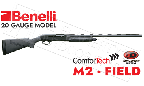 Benelli M2 Field Shotgun Black Synthetic with ComforTech #1101