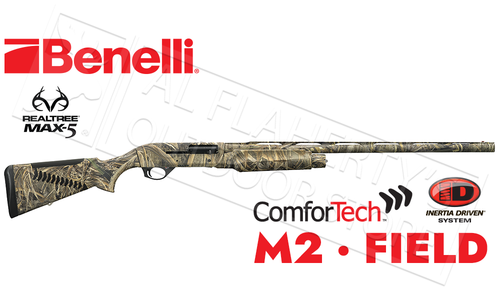 "Benelli M2 Field 12 gauge, 28"" Barrel, Max5 Camo with ComforTech #11101"