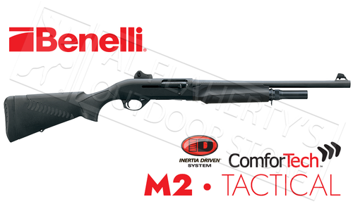 "Benelli M2 Tactical Shotgun 12 Gauge, 18.5"" Barrel with ComforTech #11029"