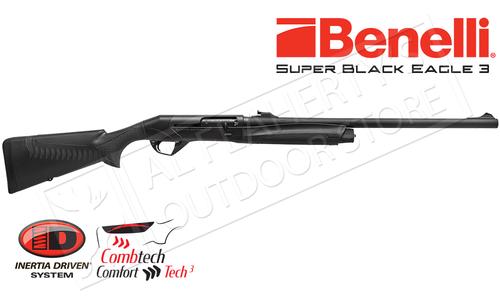 """Benelli Super Black Eagle 3 Shotgun, 12 Gauge with 24"""" Rifled Barrel #10379"""