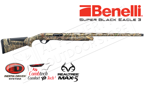 "Benelli Super Black Eagle 3 Shotgun, 12 Gauge, 3.5"" Chamber, Max5 #10301"