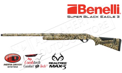 "Benelli Super Black Eagle 3 Shotgun, 12 Gauge, 3.5"" Chamber, Max5 #10301"