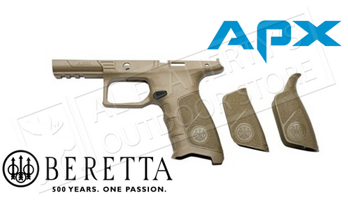 Beretta Parts APX Grip Frame, Flat Dark Earth Colour with Backstraps #E01642