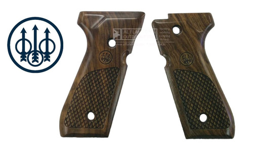 Beretta Parts 92 and 96 Series Select Walnut Oval Pistol Grips #E00219