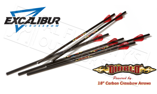 "EXCALIBUR MATRIX DIABLO 18"" CARBON ARROWS 6-PACK"