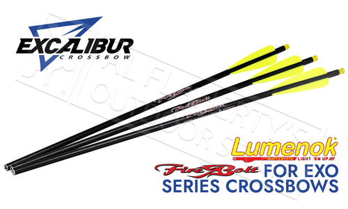 "Excalibur Firebolt Illuminated 20"" Carbon Arrow 3-Pack #22CAVIL-3"