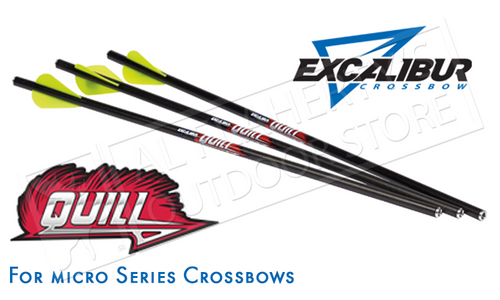 "EXCALIBUR QUILL ARROWS FOR MICRO SERIES CROSSBOWS, 16.5"" PACK OF 6"
