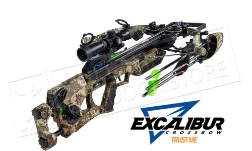 Excalibur Assassin Crossbow with Charger Cranking System Assassin Realtree Edge to 360 FPS #E74047