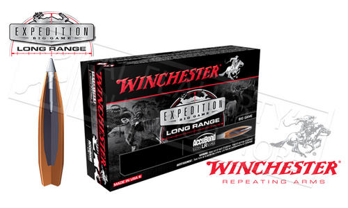 WINCHESTER 6.5 CREEDMOOR ACCUBOND EXPEDITION LR XP, POLYMER TIPPED 142 GRAIN BOX OF 20