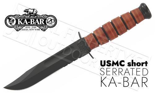 "KA-BAR Short KA-BAR USMC Serrated 5.25"" #1252"