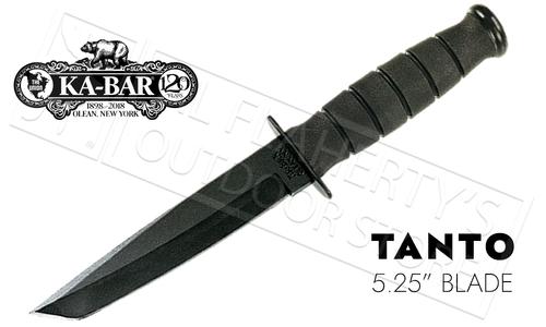 """KA-BAR Black KA-BAR Short Tanto 5.25"""" Blade #5054"""