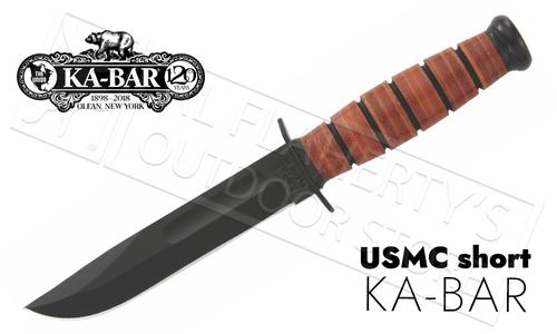 """KA-BAR Short KA-BAR USMC 5.25"""" #1250"""