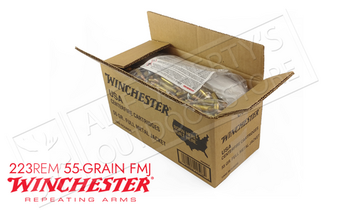 WINCHESTER 223 REM BULK, 55 GRAIN FMJ CASE OF 1000