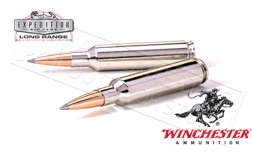 WINCHESTER 7MM REM MAG ACCUBOND EXPEDITION LR, POLYMER TIPPED BOAT-TAIL 168 GRAIN BOX OF 20