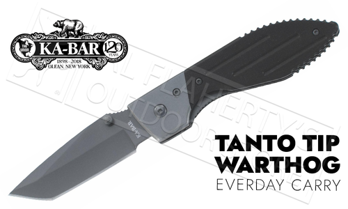 KA-BAR Warthog Folding Knife with Tanto Blade #3074
