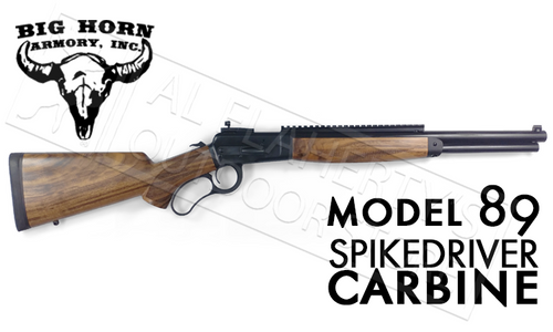 """Big Horn Armory Model 89 SpikeDriver Carbine in 500S&W, 18"""" Barrel Hunter Black Finish with Scope Mount #M8918-21"""