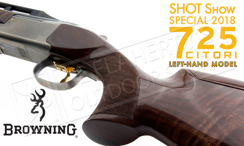 Browning SG 725 Trap Shotgun Left-Handed Over Under with Adjustable Comb #0135823009