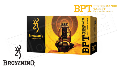 Browning .40S&W BPT Target Ammunition, 165 Grain FMJ Box of 50 #B191800402